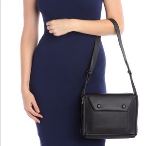 Brand New GREY Leather Shoulder Bag